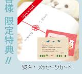 オリジナルのし&メッセージカード!